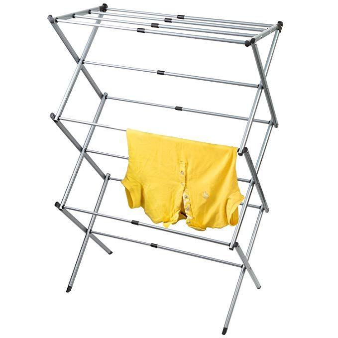 Artmoon Gobi Foldable Drying Rack Horse Extendable Telescopic Clothes Dryer 17 29 5 Length Anti Rust Steel Review Drying Rack Clothes Dryer Clothing Rack
