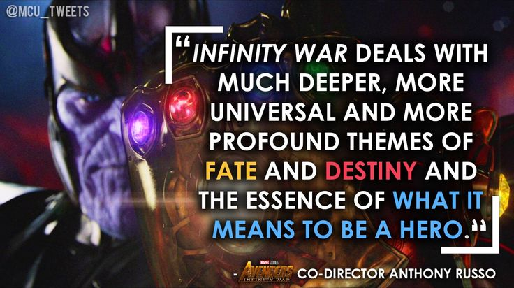 """AVENGERS: INFINITY WAR will explore """"much deeper more profound themes"""" than the political topics of THE WINTER SOLDIER and CIVIL WAR"""