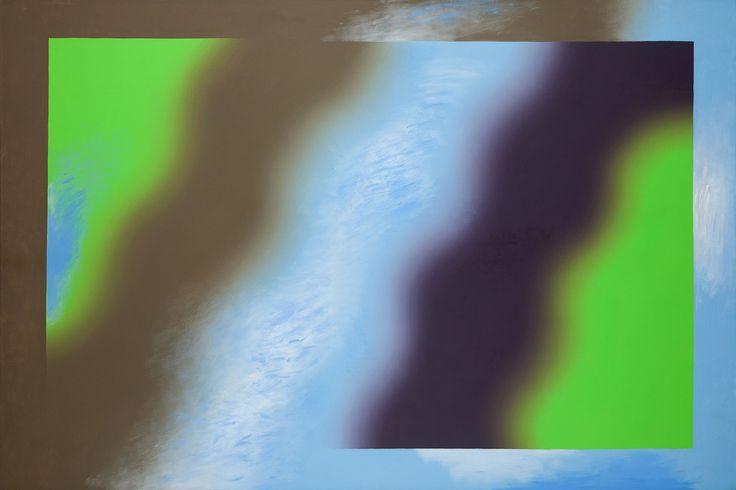 WOJCIECH FANGOR (1922 - 2015)  MA 84, 1974   olej, płótno / 153,5 x 229,5 cm