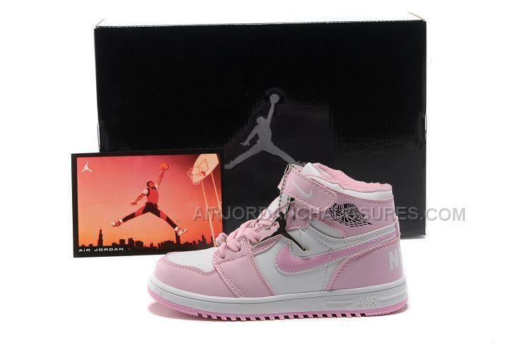 www.airjordanchau... Only68,00€ #NIKE AIR #JORDAN 1 ENFANT ROSE ...