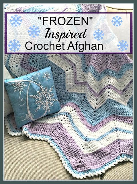 Frozen Inspired Crochet Afghan