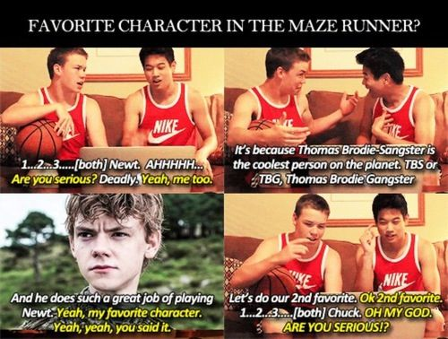 Gally and Minho // Will Poulter and Ki Hong Lee