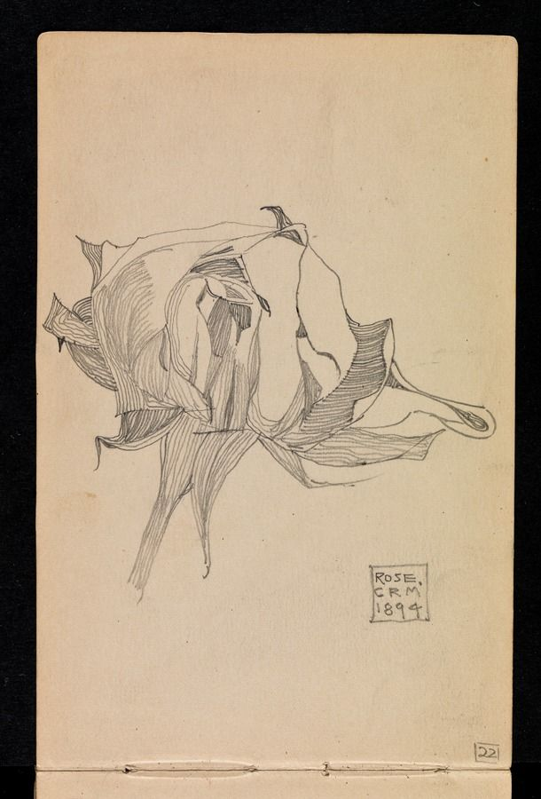 Mackintosh: Sketchbook of travels in Scotland and a tour to Kent: p. 20 Rose 1894