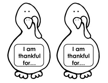 FREEBIE!! :) Thanksgiving Turkey - Writing Activity Give each of your students one turkey and a page of feathers. Have them brainstorm what they are thankful for and then write one idea on each feather. Colour the turkey and the feathers, cut them out and glue the feathers onto the turkey!