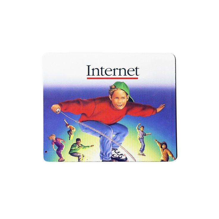 Internet Kids Mousepad  Flashback 20 years ago when people still used mousepads and the Internet was just coming up and hey, did you Ask Jeeves yet why the scrolly thing isn't scrolling?