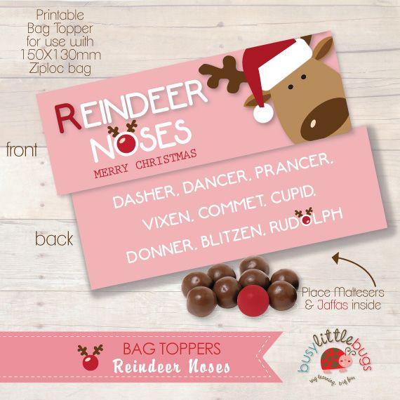 REINDEER NOSES COMET PINK BAG TOPPERS