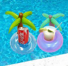 Mini De Noix De Coco Arbre Porte-Boisson Gonflable Flotteur De Natation Piscine Beach Party Enfants Adult Swim Porte-gobelets Baignoire Bébé Classique Jouet(China (Mainland))