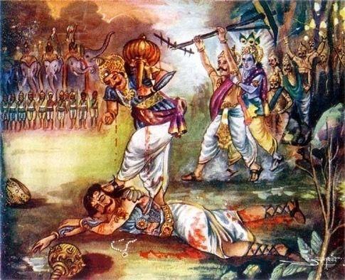 Bheema destroy Duryodhan