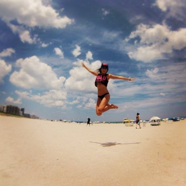 Miami, Miami Beach, South Beach, Florida, flying! I believe I can fly... I believe I can touch the sky!