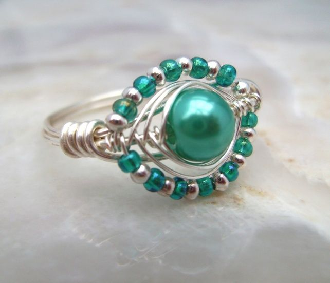 692 best wire wrapped rings images on Pinterest | Rings, Wire ...