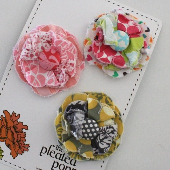 cute posy hair clips