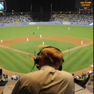 """Vin Scully, classic baseball announcer. great guy, always put's a smile on my face """"It's tiiiiime for Dodger Bassseeeeballl"""" (you just read that in his voice, don't lie)"""