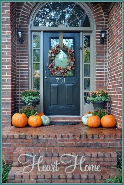 Fall front door fall wreath