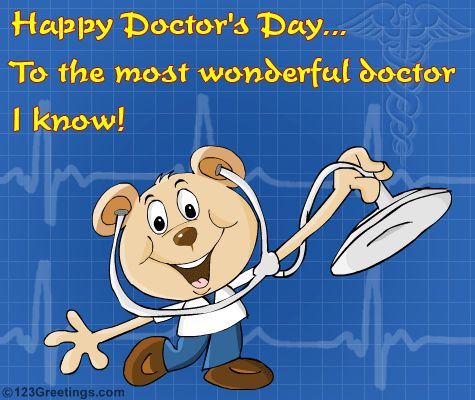 On this Doctor's Day, I want to thank you As I am hearty and healthy again, Hope you have a great day. Happy Doctor's Day ! Edit   Scheduled Status Updates (Dent Click) Refresh