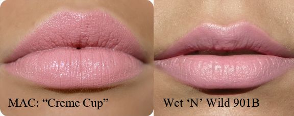 Mac Velvet Teddy Dupe | MAC cream cup VS WET N WILD 901B