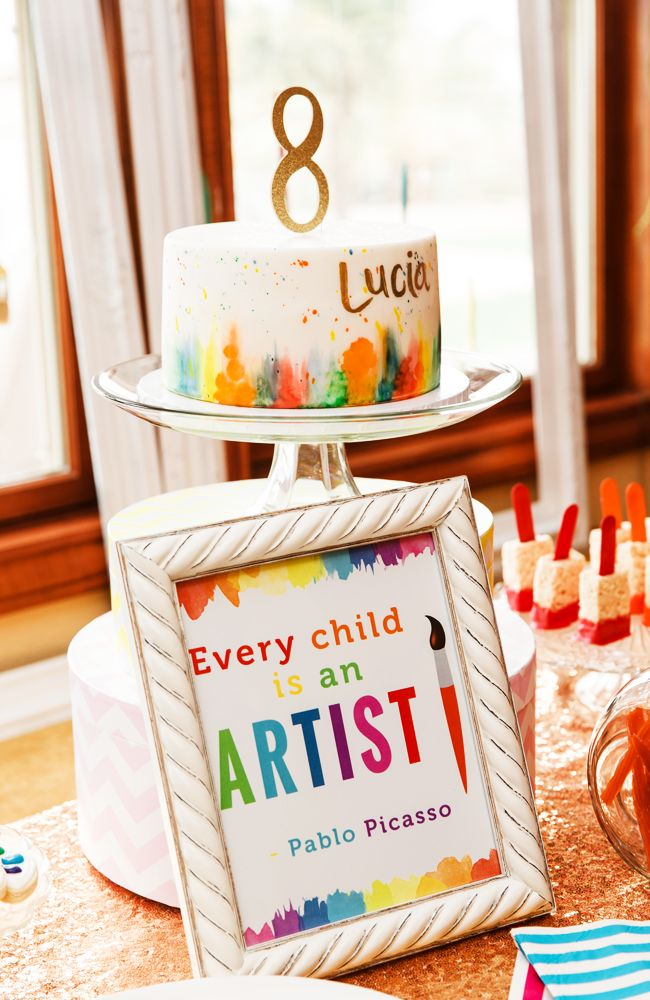 An art party is the perfect birthday party for your budding artist. Includes cute birthday party decor ideas and yummy art-themed treats.