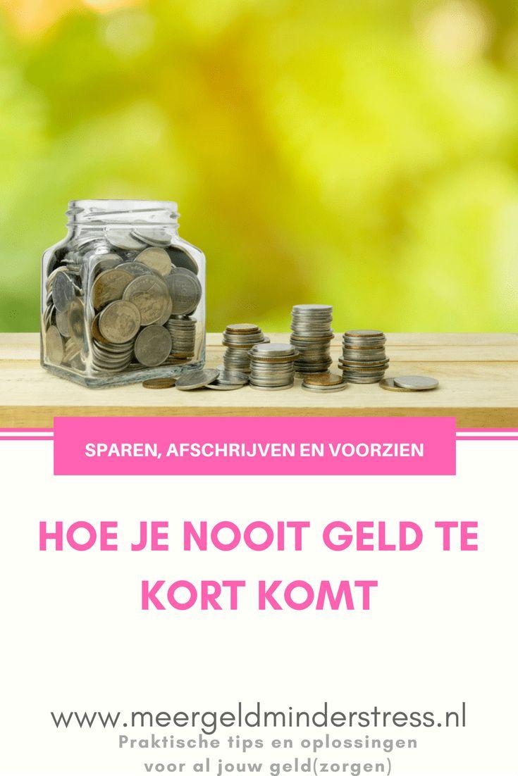 Hoe zorg je dat je altijd geld genoeg hebt? Door je spaargeld goed te verdelen en op te letten wanneer je wat moet uitgeven. Hoe? Lees verder... #sparen #afschrijven #geldtekort #genoeggeld