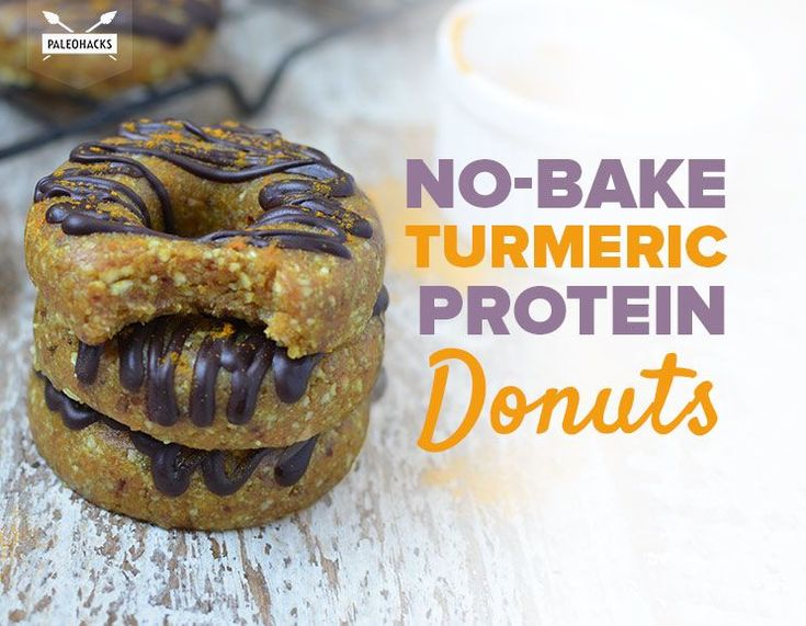 No-Bake Turmeric Protein Donuts