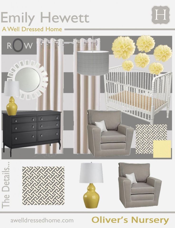 Yellow And Grey Baby Bedroom: 17 Best Images About Yellow And Grey Baby Room On