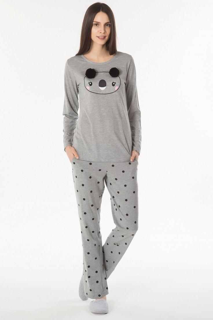 Kom Teddy Bayan Pijama Takım 61PJ60401 #markhacom #BayanPijama #KızÇocukPijama #OnlineAlışveriş #İndirim #AnneKızKombin #PijamaTakım #Aile #Sonbahar #EvKeyfi #Moda #YeniSezon #EvBotu