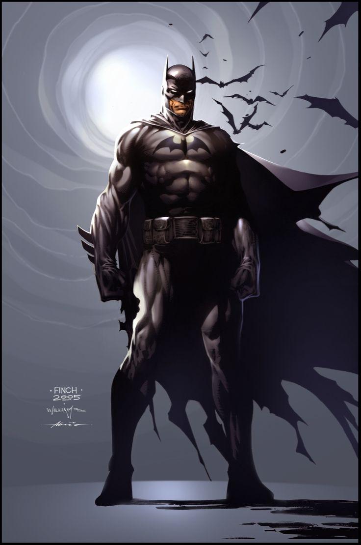 Deadshot wallpaper galleryhip com the hippest galleries - Batman Commission Color Version David Finch Scott Williams Comic Art