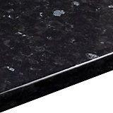 38mm B&Q Ebony Granite Gloss Round Edge Kitchen Worktop (L)3m (D)600mm | Departments | DIY at B&Q