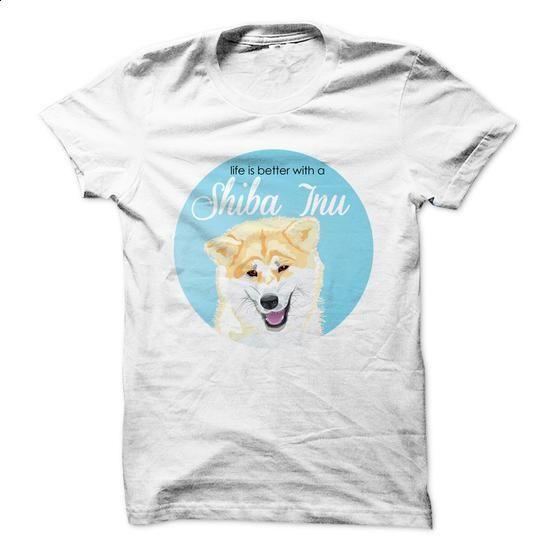 Life is better with a Shiba Inu! - #sweatshirt #men t shirts. ORDER NOW => https://www.sunfrog.com/Pets/Life-is-better-with-a-Shiba-Inu-55000551-Guys.html?60505