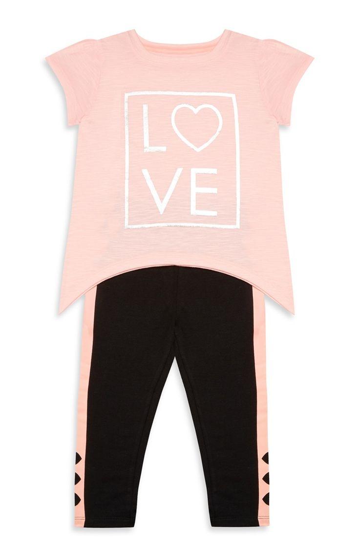 Primark - Older Girl Pink And Black Leisure Set