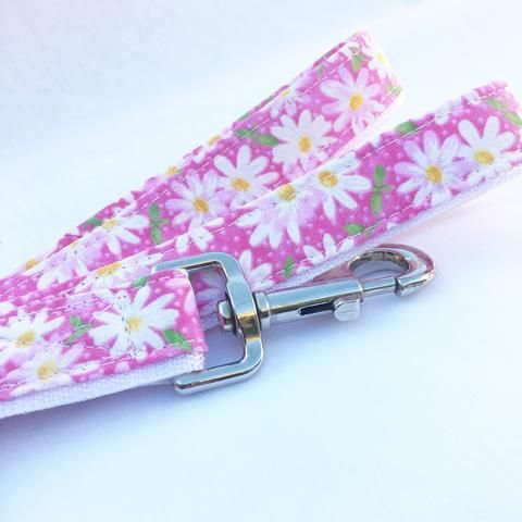 Pink Daisy Dog Leash The Hottest Handcrafted Dog & Cat Collars / Cheap Online Price