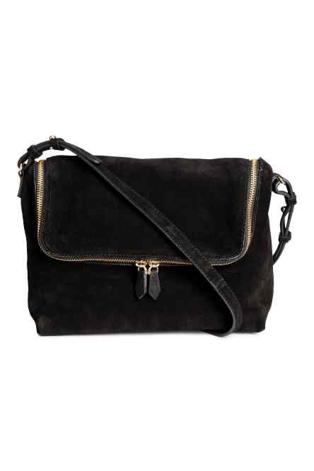 Suede Zipped Shoulder Bag from H&M R789,99
