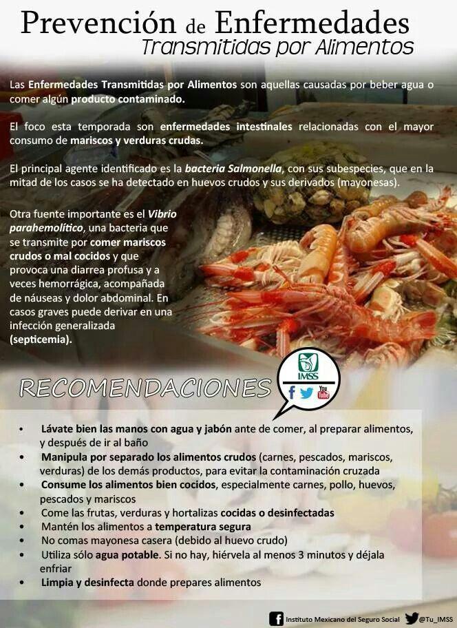 Prevención de enfermedades transmitidas por alimentos.
