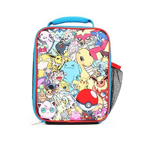 f9fe1ee11c04 Pokemon All Over Print Multi Characters Insulated Lunch Bag for Kids ...