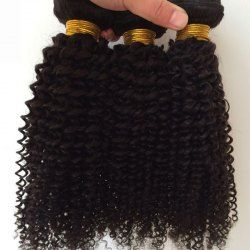 1Pcs Kinky Curly 5A Remy Indian Hair Weave