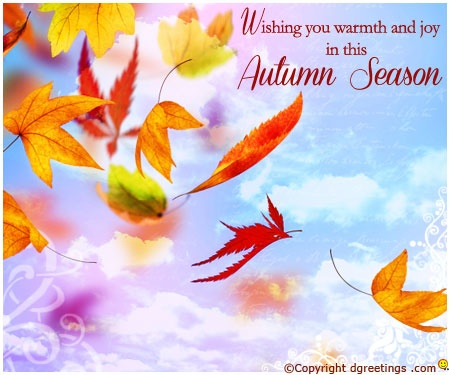 Dgreetings    Send wishes through lovely Autumn Card to your friends...