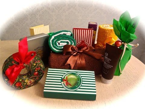 Подарки на Новый Год (+ идеи как оформить подарок) / Собираем подарочные наборы - YouTube