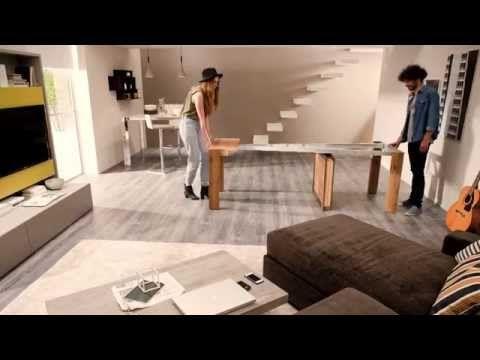 consolle allungabile design, consolle moderna A4 by Ozzio