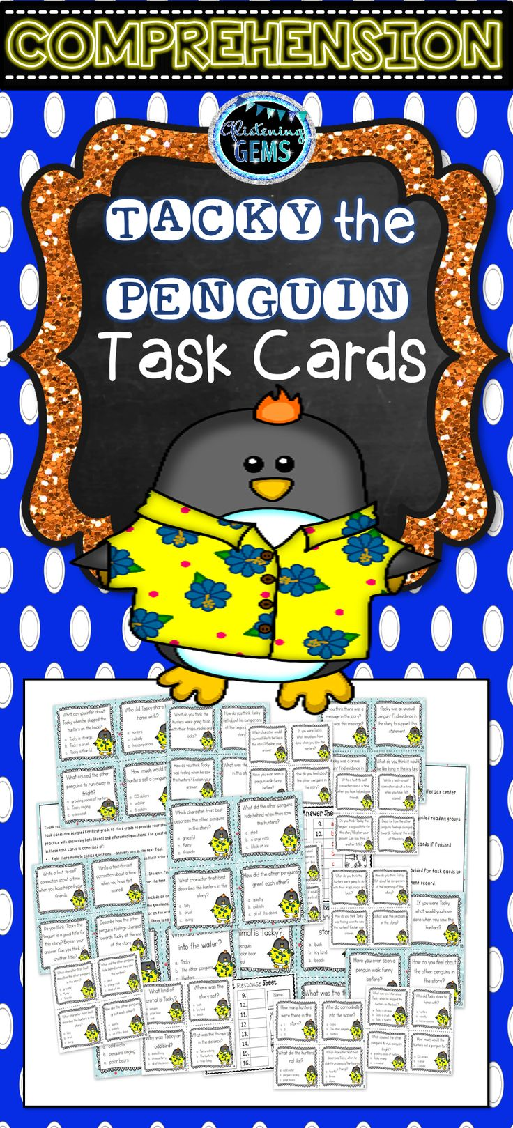 tacky the penguin Tacky the penguin is a total nonconformist who lives with a group of formal, proper penguins but it is tacky who foils the plans of the three critters with 'get-rich-quick plans' that threaten the penguins' existence.