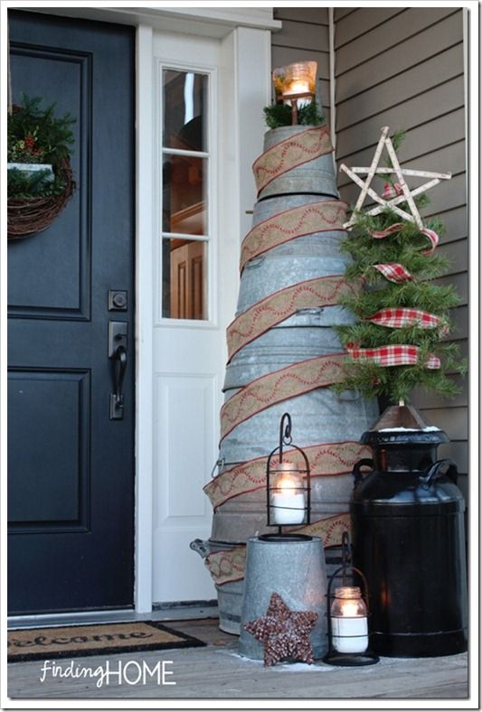 GalvanizedChristmasTree thumb Top Decorating Ideas and Inspiration from 2012
