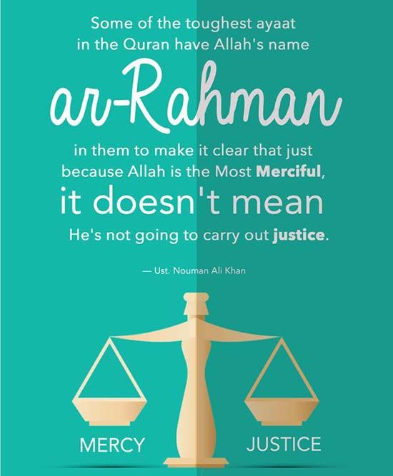 Some tough verses mention Allah's mercy but we must not forget Allah is JUST! ⚖️