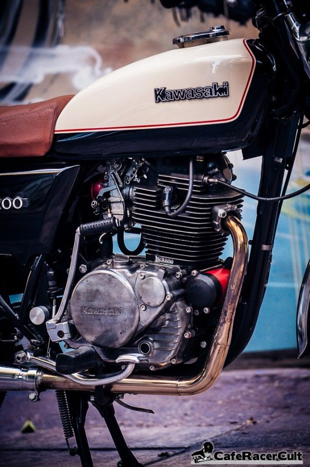 Kawasaki Z 200A1 1978 – Classic Custom http://caferacercult.gr/custom/kawasaki-z-200a1-1978-classic-custom.html