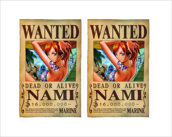 One Piece Wanted Poster Template Unique 10 E Piece Wanted Posters