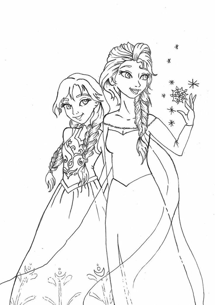 Ausmalbilder anna und elsa kostenlos ausmalbildkostenlos for Elsa and anna coloring pages