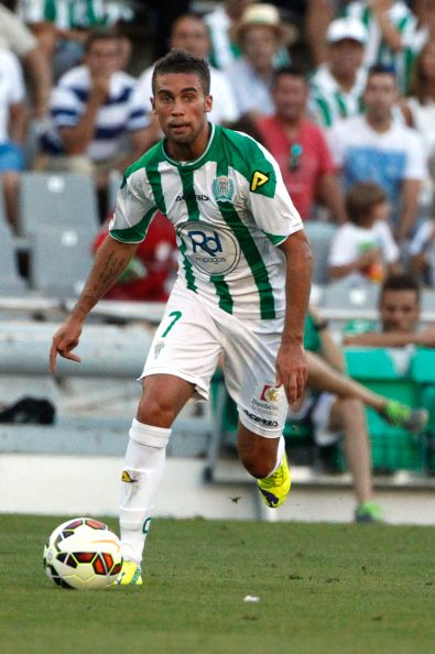 Fausto Rossi of Cordoba CF controls the ball during the La liga match... #FaustoRossi