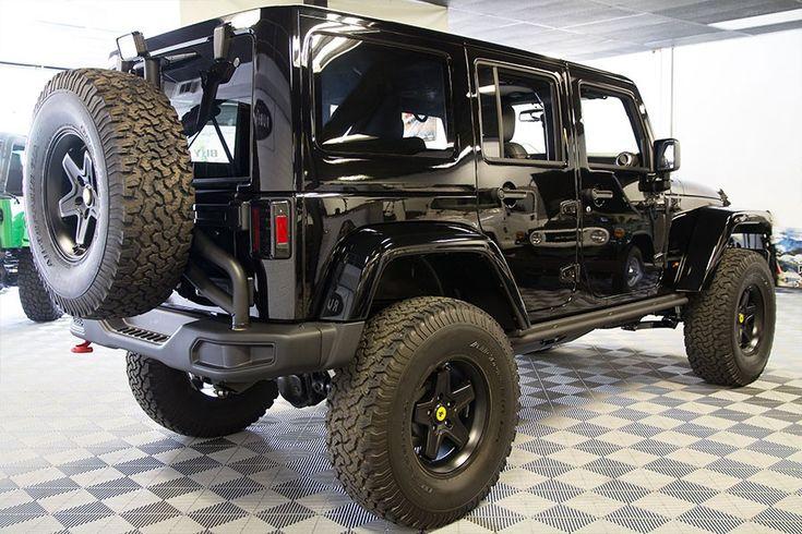 Pre-Owned 2015 Jeep Wrangler Rubicon Hard Rock Unlimited Black HEMI Conversion