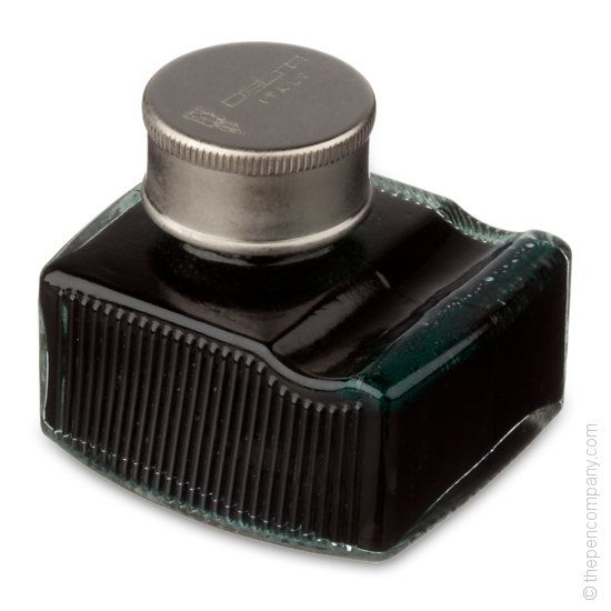 Delta bottled gift ink in Green. Also available in Blue. Pen rest on bottle. Comes in an attractive  red gift box. Just £16.00 each.