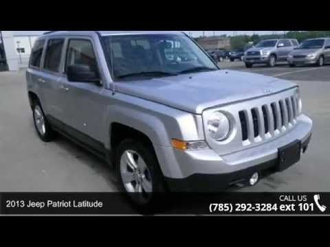 2013 Jeep Patriot Latitude - Lewis Toyota - Topeka, KS 66614  Are you waiting for a car that you don't have to wonder if it will start in the morning? Well, this Latitude will have you excited to pick-up even your mother-in-law** CARFAX 1 owner and buyback guarantee** New In Stock** Great MPG: 30 MPG Hwy..