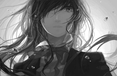 Amazing sad Anime Drawings | adorable, amazing, anime, art, b - inspiring picture on Favim.com