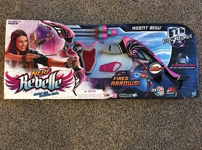 Nerf Rebelle Agent Bow Secrets And Spies Electronic Hasbro New 3 Arrows  | eBay