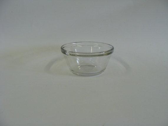 Anchor Hocking Clear Glass Custard Cup 6 oz / by browneyeddaisy,: Clear Glass