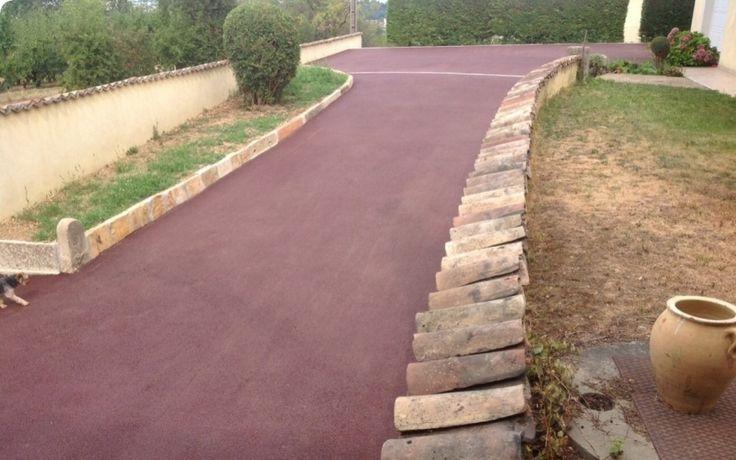 Projet d'aménagement de chemin en enrobé rouge à chaud - entreprise chappot
